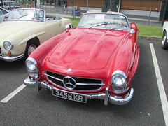 Mercedes 300SL 3456KR (Andrew2.8i) Tags: cardiff classic car club show w198 w 198 mercedes benz 300sl 300 sl roadster convertible open sports sportscar classics cars
