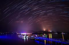 (DSC_0513-1) (nans0410(busy)) Tags: taiwan nantoucounty puli sunmoonlake startrack sky dock pier boat
