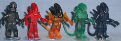 MiniMates - Rainbow Aliens (Darth Ray) Tags: minimates rainbow aliens being produced an ever growing collection colors gray red flaming orange green black