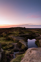 a new day dawns (David Raynham) Tags: peakdistrict derbyshire england east midlands uk landscape colour water stones rocks edge sunrise dawn nikon d750 sigma24mmf14art fx ngc reflections