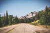 Driving through Wyoming. (- Anthony Papa -) Tags: anthony papa photos grass green tumblr vintage matte film digital amazing road long depth composition canon5dmkii 24105mm water blue sky clouds rural nature landscape photography digitalrev white art travel wyoming driving mountains rocky