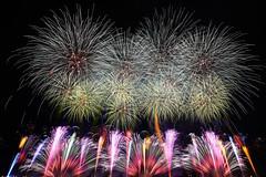 Green Fireworks Display (peaceful-jp-scenery) Tags: fireworks display summer festival kanaya oigawa          sony 99 a99 slta99v amount sal1635z variosonnart1635mmf28zassm carlzeiss