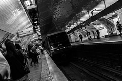 direction montrouge... (Lens a Lot) Tags: metro nation paris | 2016 subway gate tube underground black white street photography city life people light noir et blanc monochrome intrieur