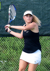 ...intensity... (R.A. Killmer) Tags: kayla tennis compete competition intense play match game bethelpark uniform racquet court teen girl talented graceful skilled