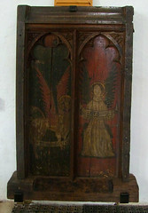 rood screen: St Mark and St Matthew (Simon_K) Tags: wiggenhall mary magdalene magdalen norfolk eastanglia