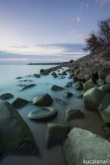 smoky water (kucalanaaa) Tags: sea water slowshutter slow shutter sunset seascape landscape malaysia nikon canon terengganu