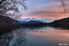 0S1A2981enthuse (Steve Daggar) Tags: newzealand sunset lake lakehayes winter mountains snowcappedmountains