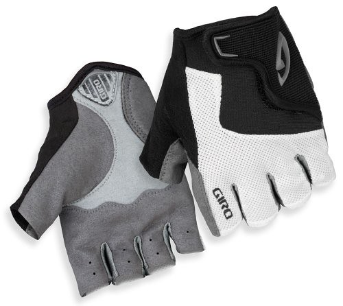Giro Bravo Jr. Youth Gloves, White/Black/Grey, Large