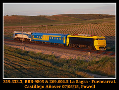 ¡AL FIN! (Powell 333) Tags: madrid españa amigos train canon tren trenes eos spain chopper rail railway trains gato 7d powell gata material railways japonesa caf mitsubishi 604 bbr castilla mancha japonesas ferrocarril renfe asociación 319 castillalamancha traslado japo asociacion 269 caldero ffcc 9805 castillejo operadora 2696 convencional 3193 castillamancha gatomontes preservada renfeoperadora eos7d canoneos7d integria preservado añover aafm 269604 materialconvencional castillejoañover 319332 renfeintegria gatamontes bbr9805