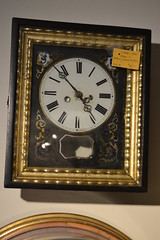 "C. 1840s Wall Clock w/ Battery Movement, As-is • <a style=""font-size:0.8em;"" href=""http://www.flickr.com/photos/51721355@N02/18281750870/"" target=""_blank"">View on Flickr</a>"