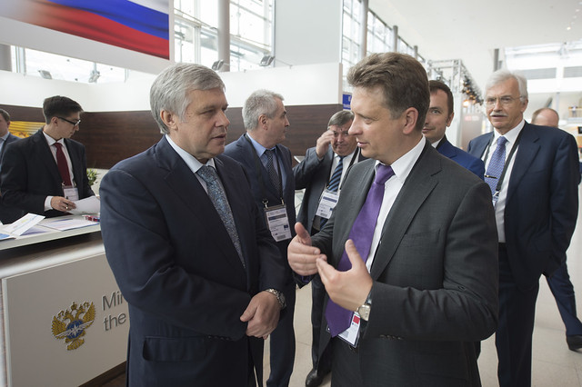 Maksim Sokolov at the Ministry of Transport of the Russian Federation stand