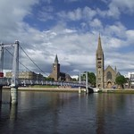 Along the riverside at River Ness in Inverness Scotland thumbnail