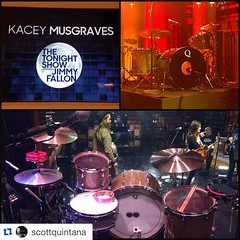 Don't miss tonights performance from @scottquintana playing with @spaceykacey on @fallontonight!!                              ・・・ All checked and ready to party with @fallontonight! Airs tonight at 11:35pm (10:35c) on NBC.