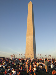 Meet at the Monument (US Department of State) Tags: sunset summer washingtondc fireworks flags summertime july4th 4thofjuly july4 independenceday crowds picnics 4july