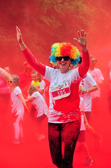 Claire House Splash Dash Birkenhead Park 2016 (sab89) Tags: africa park charity red house station radio claire paint djembe capital running run event dash birkenhead drumming splash dye elliot wirral africain 2016 dundun abisa