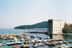 Dubrovnik_dock (alekspaunic) Tags: nature architecture canon boats island dock croatia citywalls canona1 oldtown dubrovnik analogphotography adriaticsea naturelovers filmphotography shadesofblue