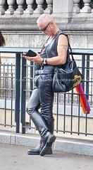 """bootsservice 16 480814 (bootsservice) Tags: paris """"gay pride"""" """"marche des fiertés"""" bottes cuir boots leather motards motos motorcyclists motorbiker caoutchouc rubber uniforme uniform orlando"""