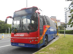 VU03VVY (jeff.day48) Tags: volvo paragon railreplacement goahead plaxton 7099 b12m poolebusstation expressliner gosouthcoast vu03vvy