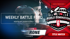 WEEKLY BATTLE FEED  Bigg K vs Cortez, World Domination 6,... (battledomination) Tags: weekly battle feed  bigg k vs cortez world domination 6 battledomination rap battles hiphop dizaster the saurus charlie clips murda mook trex big t rone pat stay conceited charron lush one smack ultimate league rapping arsonal king dot kotd freestyle filmon