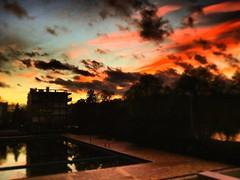 SUNDOWN  PARIS                                 France (adriengarofalo) Tags: sky city sundown swimingpool beautiful night colorful