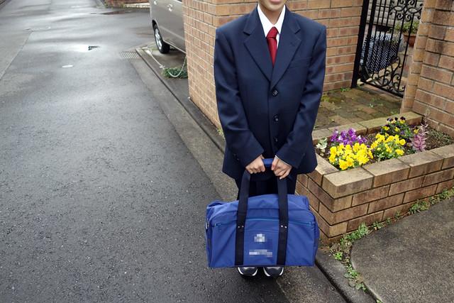 中学校に入学した第1子の長男