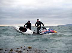 Tao Berman & Randy Phillips Practicing Big Wave Tow-In Surf Kayaking (tay.burch) Tags: big kayak wave tao berman towin