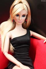 Giselle Live, Work, Play! (ArLekin26113) Tags: giselle diffendorf liveworkplay integrity fashionroyalty nuface blonde littleblackdress blackdress redsofa redblack