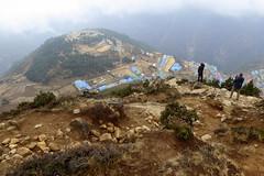 Namche von oben gesehen (Alfesto) Tags: trekking nepal jorsalle namche namchebazar himalaya khumbaarea sagarmathanationalpark