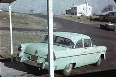 1950s car (rich701) Tags: vintage 35mm color 1950s langhorne pa pennsylvania carclub automobileclub 1954mercury bthriftyfoods texaco youcantrustyourcar