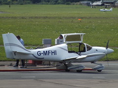 G-MFHI Europa (Aircaft @ Gloucestershire Airport By James) Tags: gloucestershire airport gmfhi europa egbj james lloyds