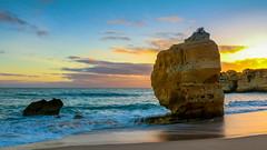 Pastel sky (Rich Walker75) Tags: landscape landscapes sea coast evening dusk sunset portugal sky cloud water waves rock rocks sand beach beaches travel holiday colour color colours colors