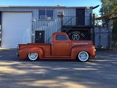 Ford Teak (misterbigidea) Tags: teak rootbeer classic ford f1 truck parked onecar jimthorpeoil lodi scenic landscape hotwheels caramel brown 1951 pickup fseries