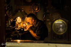 At the back of the clock repair shop (bob golden) Tags: clare ireland west ennis clock repair man fixing time watch craft trade mending seamus feeley ngc