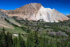 White Clouds Splendor (Talo66) Tags: idaho landscapes scenery scenics nature wilderness mountains hiking backpacking backcountry pines trees whitecloudmountains southcentralidaho peaks alpine valleys castlepeak sawtoothnationalforest