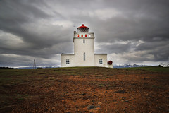 Dyrhlaey Lighthouse (daniel_hinrichsen) Tags: hike mood black beach iceland island volcanic volcano dyrhlaey light house lighthouse moody cloudy clouds travel traveling