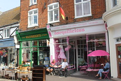 High Street, Hythe (Davydutchy) Tags: hythe kent uk truk tatra register walk wandeling spaziergang high street auntie wainwright wainwrights jacquilicious drinks ice cream cookies muffins july 2016