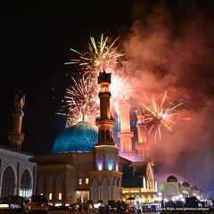 Musabaqah Tilawatil Quran 2016 Closing Ceremony (Rudy Sempur) Tags: indonesia mataram lombok ntb nusatenggara sundalesser city downtown evening night mosque islam quran alquran koran festival firework ceremony