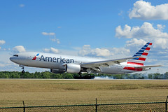 American 777 landing at Cleveland (chrisjake1) Tags: cle kcle cleveland hopkins n797an american 777 772 777200 b777 b772 boeing
