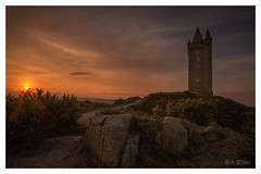 Scrabo Sunset (D.k.o.w) Tags: scrabotower newtownards countydown tower scrabo hill strangfordlough ardspeninsula sunset golden red orange light glow landscape canon7dmkii northernireland northernirelandlandscape