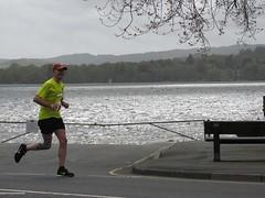5th on road Foxy (David) (Annie-Sue Jyelra) Tags: yellow slow marathon running runners gusty ambleside windermere waterhead brathay 10in10 brathaytrust