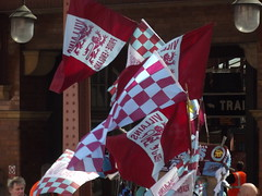 Aston Villa - FA Cup Final 2015 day - flags outside Birmingham Moor Street Station (ell brown) Tags: greatbritain england scarf souvenirs birmingham unitedkingdom flag flags souvenir scarves westmidlands edwardian birminghamuk facup astonvilla astonvillafc gwr moorstreetstation greatwesternrailway facupfinal avfc villans birminghammoorstreet birminghammoorstreetstation chilternrailways moorst londonmidland astonvillafootballclub moorstqueensway prideofengland facupfinal2015