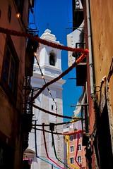 Lisboa_201521396 (t3mujin) Tags: street city summer white portugal church alley europe lisboa lisbon decoration narrow alfama santoantnio
