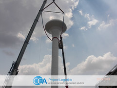 Water Tower Installation (CEA Project Logistics) Tags: water project thailand asia tank lift talk cargo beam cranes modular installation shackles heavy slings asean rigging logistics toolbox laem cea spreader consolidation chabang