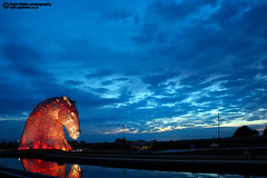 The Kelpies at Falkirk, Scotland (Nigel Blake, 13 MILLION...Yay! Many thanks!) Tags: travel sculpture art tourism andy scott scotland clyde canal high artist scenic forth sculptures horsehead falkirk the kelpies 30metre thekelpies nigelblake nigelblakephotography