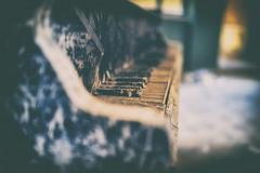 Play it again Sam (Beelitz Bokeh - Part 1) (Bokehschtig (back, but catching up slowly)) Tags: lostplace bokeh dof dark beelitz beelitzheilsttten berlin brandenburg decay piano light vignette old vintage urbex sony a7 sonya7 sel35f14z 35mm f14