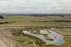 Cuckmere valley   Seven Sisters walk   July 2016-37 (Paul Dykes) Tags: southdowns southdownsway southcoast coast cliffs sea shore coastal englishchannel sussex england uk seaside sun sunnyday chalk downs hills countryside