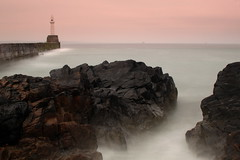 Aberdeen Harbour South Breakwater (PeskyMesky) Tags: longexposure sea lighthouse canon landscape scotland outdoor pov pointofview aberdeen le aberdeenharbour canoneos500d southbreakwater