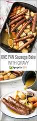 One Pan Baked Sausag (alaridesign) Tags: one pan baked sausage vegetables with gravy