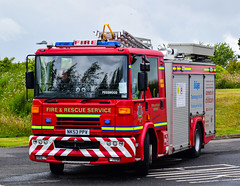 NK53PPV (firepicx) Tags: rescue fire pump northumberland sabre service dennis emergency 999 retained wrlet nk53ppv