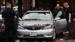 Car Drives Into Fruitstand (bcfiretrucks) Tags: canada news fruit vancouver mall photography stand photo mess cops bc leo market crash accident photojournalism police columbia canadian blueberry champlain british law enforcement incident heights mva stringer collision kins cherrys